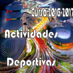 Calendario Inicio de Actividades Deportivas Curso 2016-2017