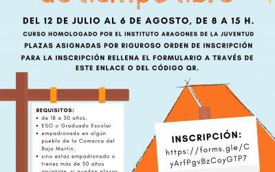 Área de Juventud del Bajo Martín. Curso de Monitor de Tiempo Libre