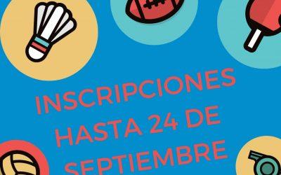 Inscripciones Actividades Deportivas Comarcales (Curso 2021/2022)